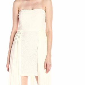 RACHEL Rachel Roy Embroidered High-Low Midi Dress
